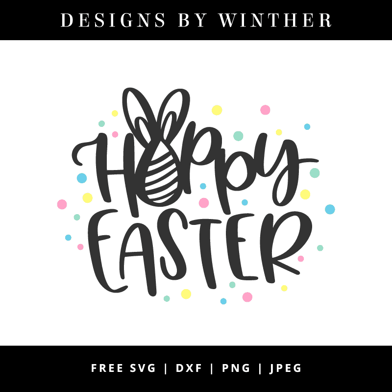 Hoppy easter hand lettered vector file