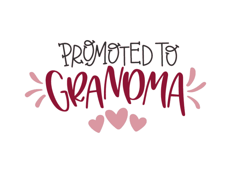promoted to grandma vector file