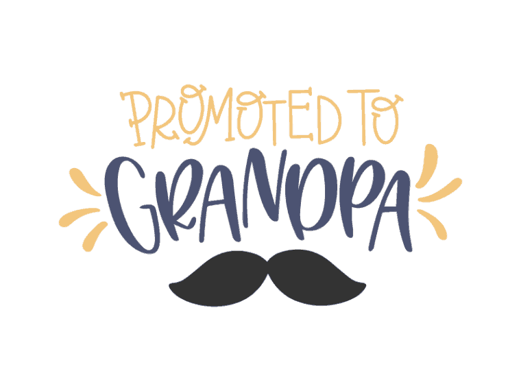 Promoted to grandpa vector file