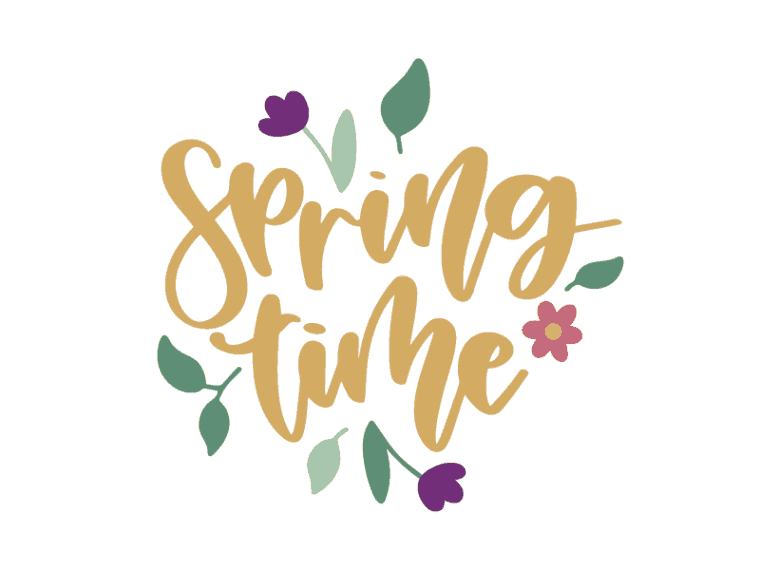 spring time vector art