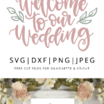 Welcome to our wedding vector clipart