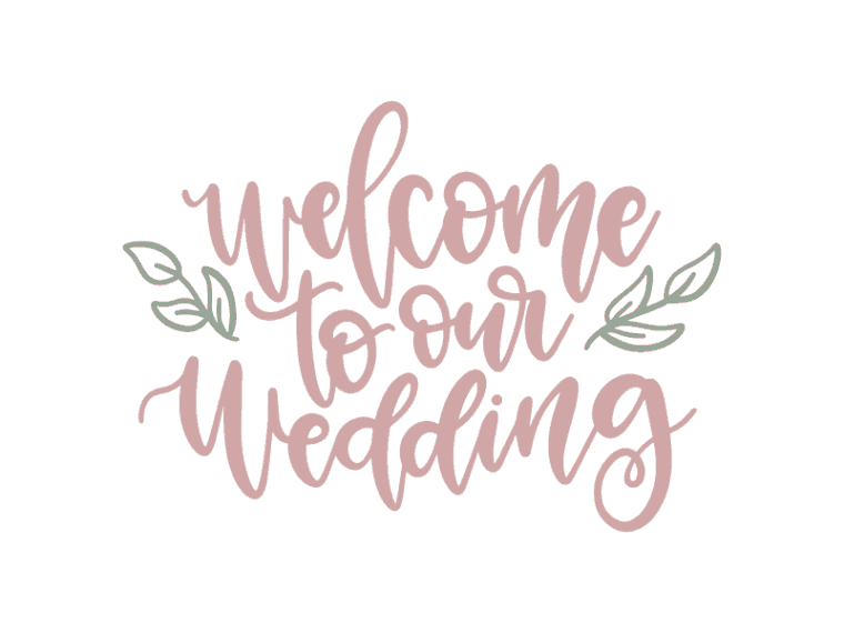 Welcome to our wedding hand lettered vector file
