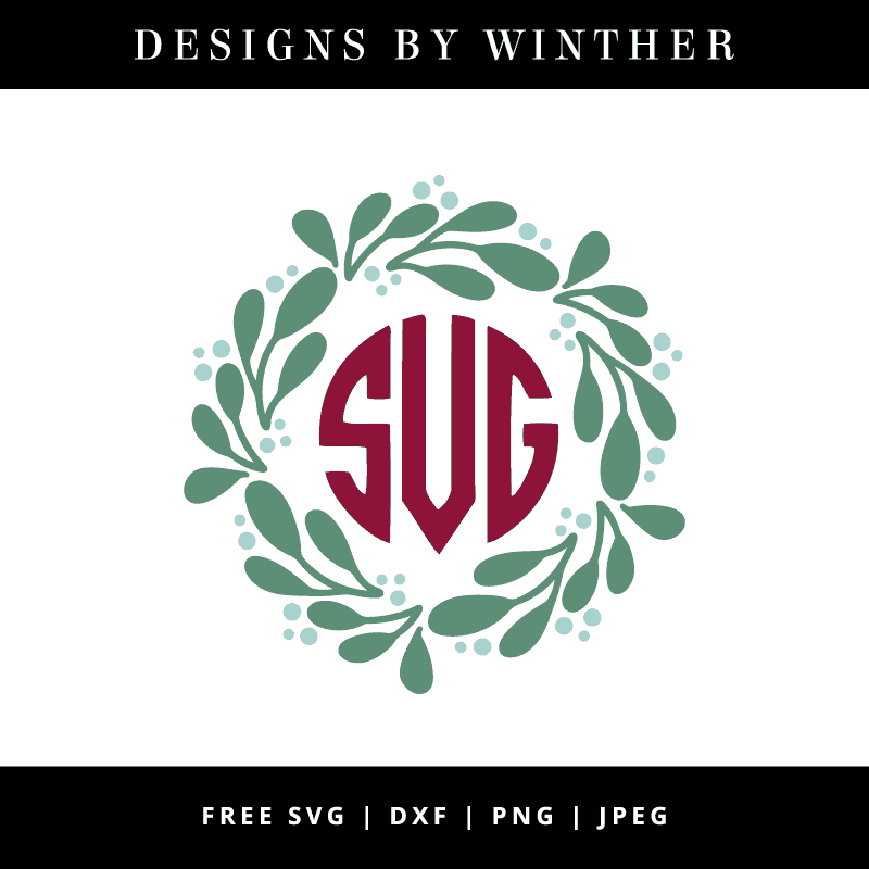 Winter monogram frame vector file
