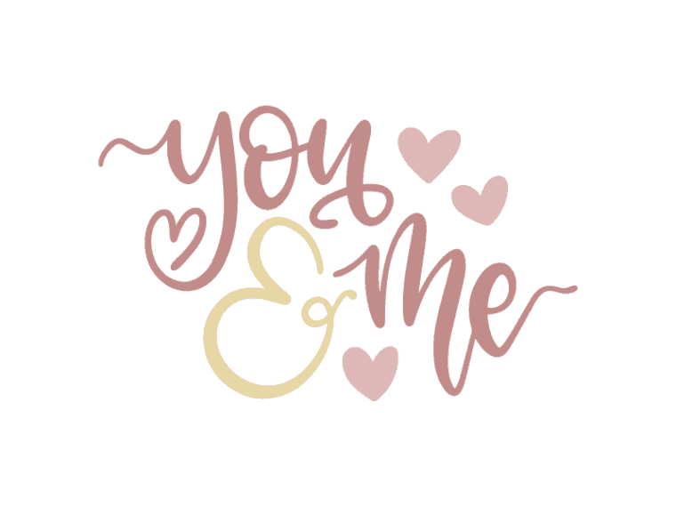 You and me vector file