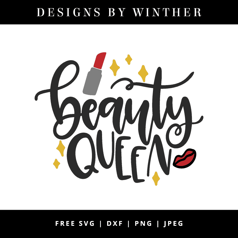 Beauty queen vector art