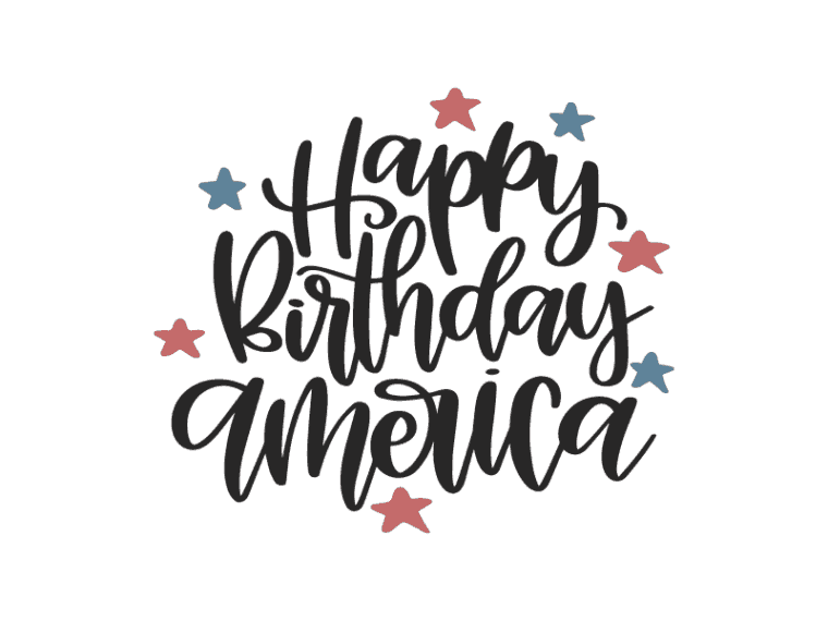 Happy birthday america vector art