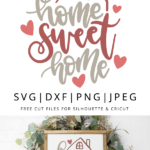 Home sweet home hand lettered vector
