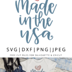 Made in the USA hand lettered vector