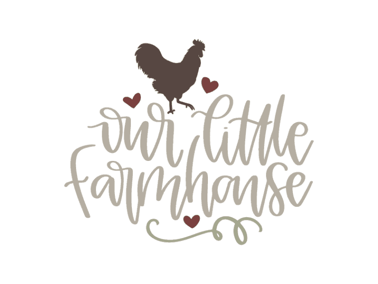 Hand lettered our little farmhouse vector