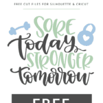 Sore today stronger tomorrow vector clipart