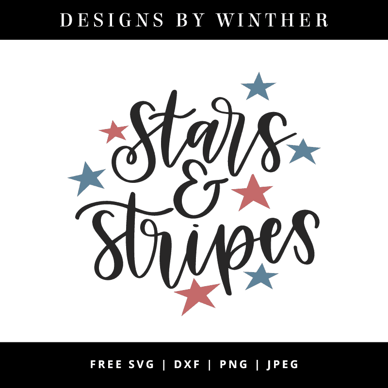 Stars and stripes vector file