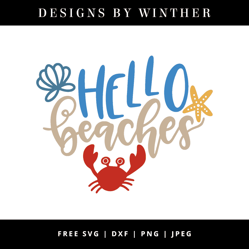 Hello beaches vector art