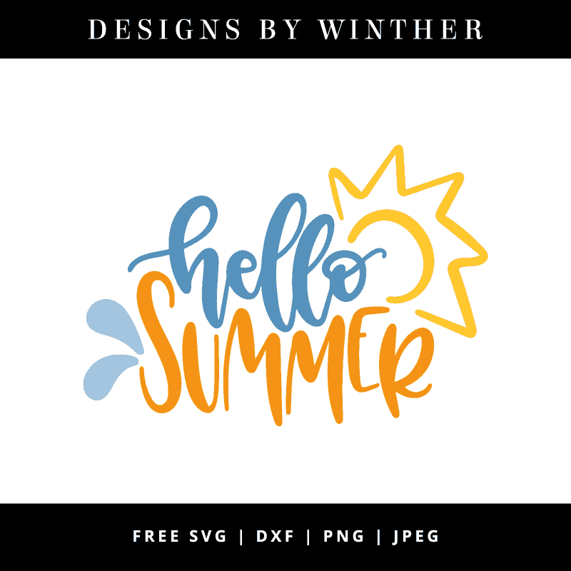 Hello summer vector art